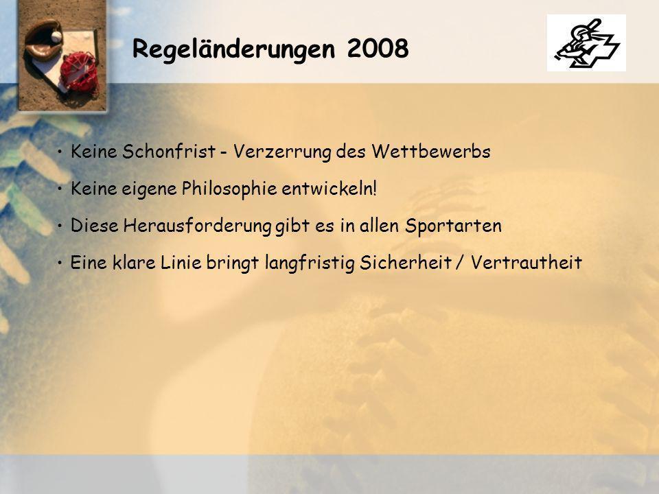 Keine Schonfrist - Verzerrung des Wettbewerbs Regeländerungen 2008 Keine eigene Philosophie entwickeln.