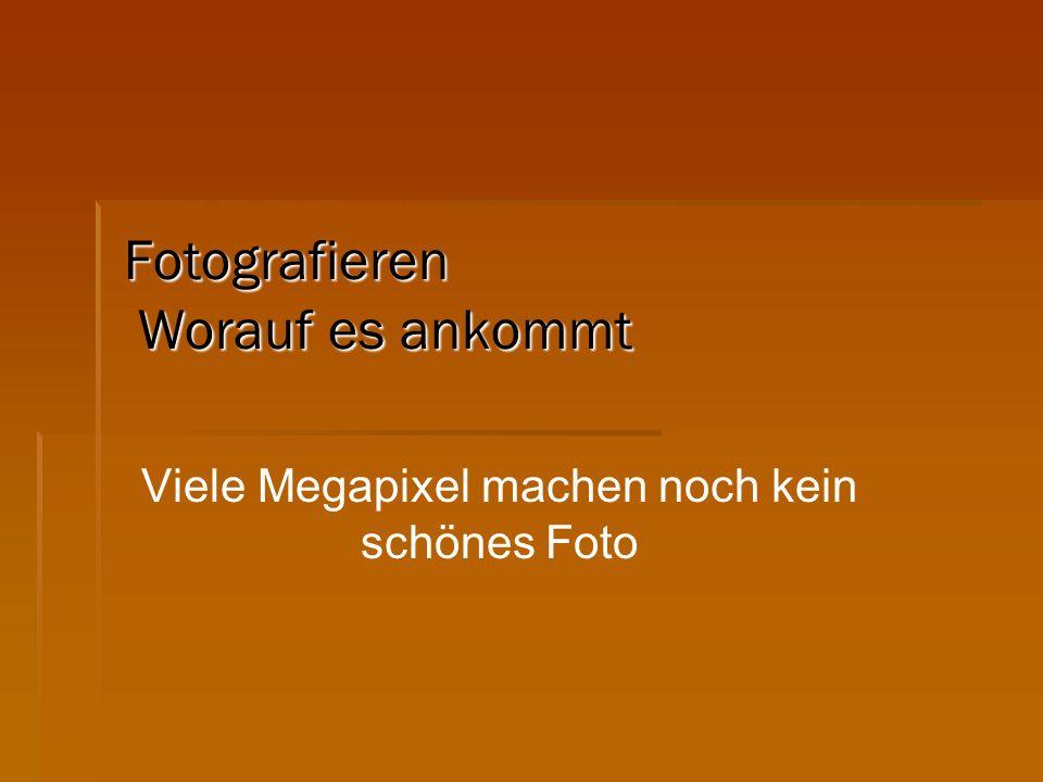 Fotografieren Worauf es ankommt Viele Megapixel machen noch kein schönes Foto