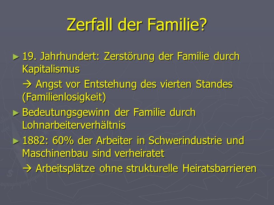 Zerfall der Familie.19. Jahrhundert: Zerstörung der Familie durch Kapitalismus 19.