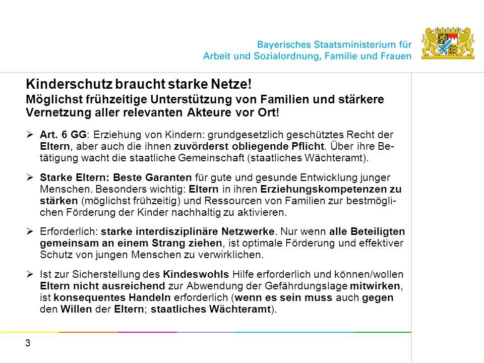 4 Kinderschutz braucht starke Netze.Angebote zur Stärkung von Elternkompetenzen in Bayern.