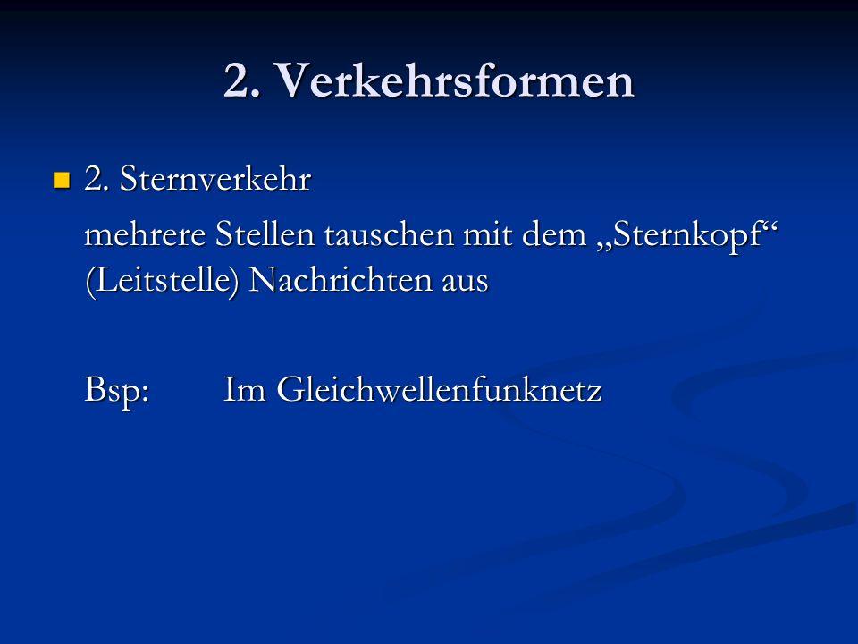 2.Verkehrsformen 3. Kreisverkehr 3.