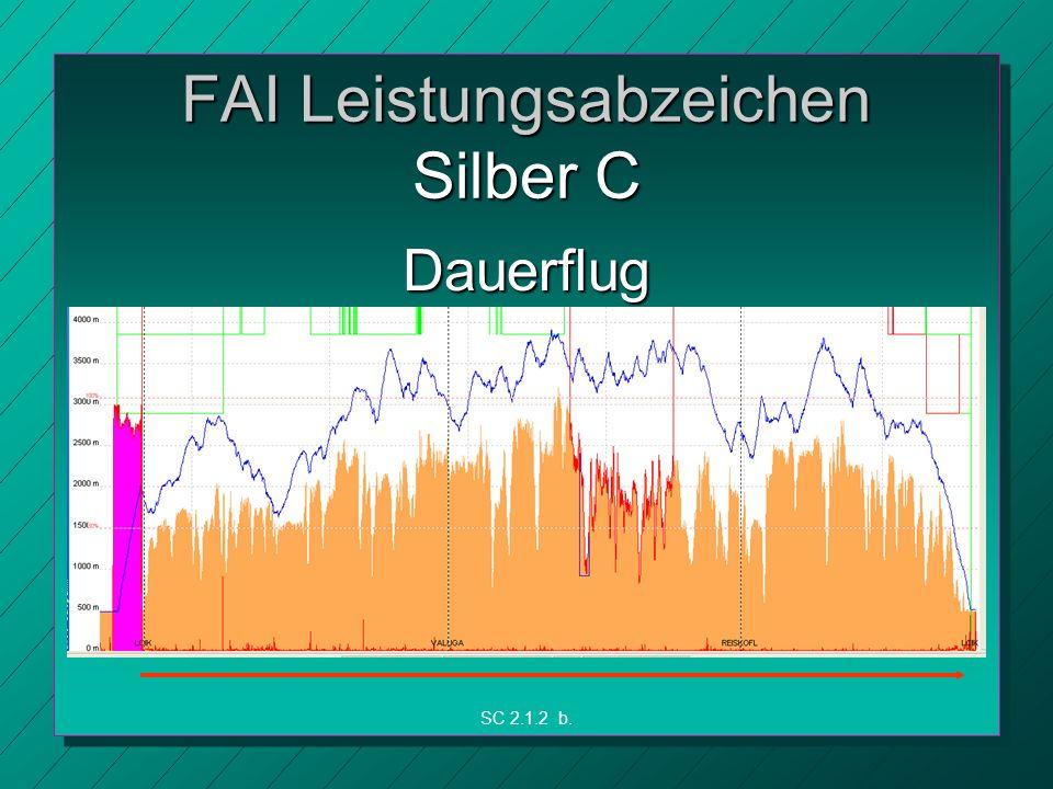 FAI Leistungsabzeichen Silber C Dauerflug SC 2.1.2 b.
