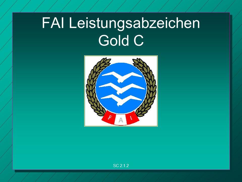 FAI Leistungsabzeichen Gold C SC 2.1.2