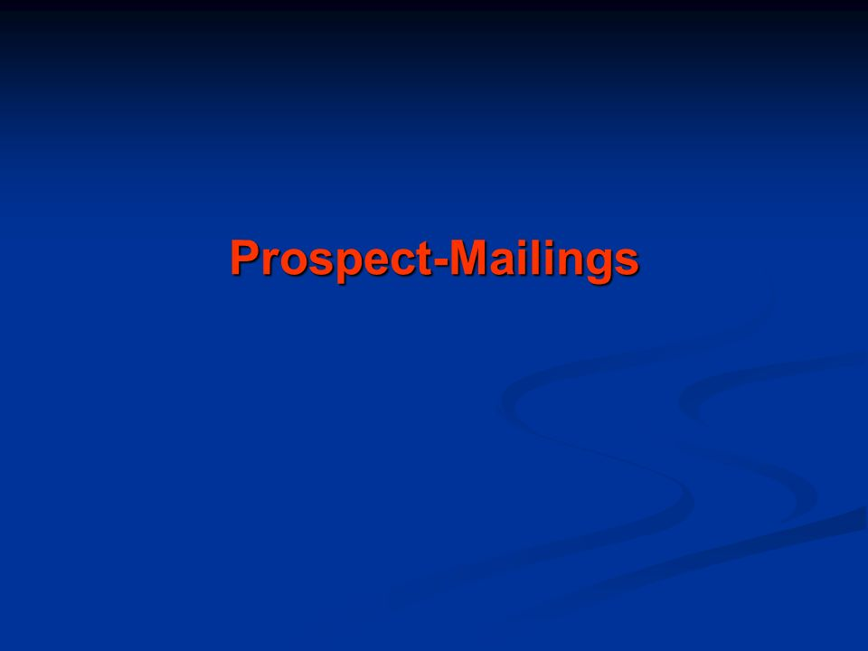 Prospect-Mailings