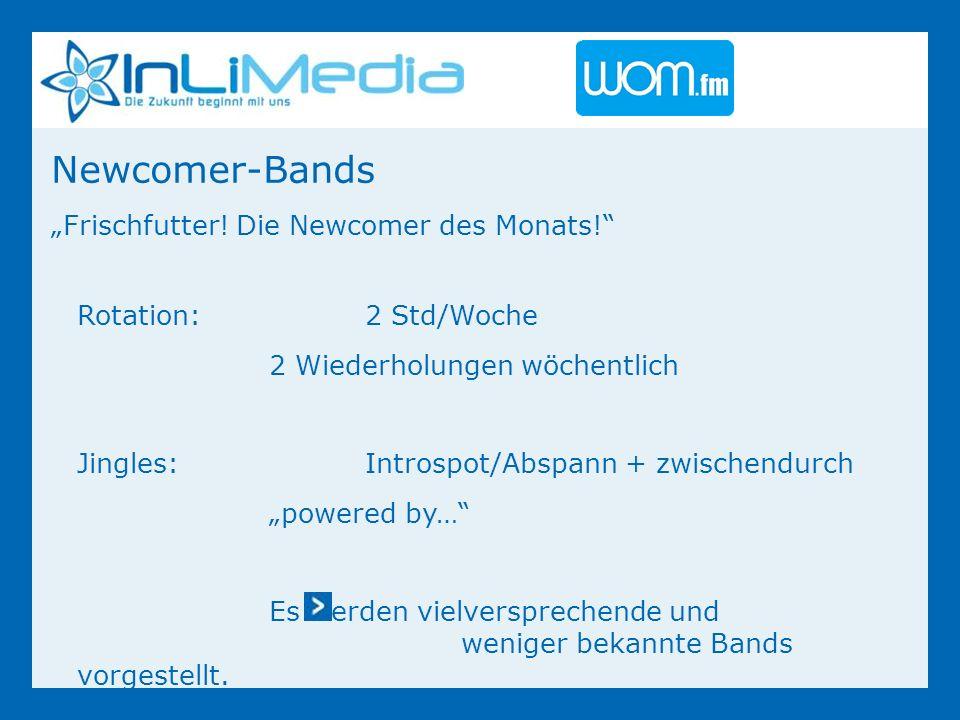 Newcomer-Bands Frischfutter. Die Newcomer des Monats.
