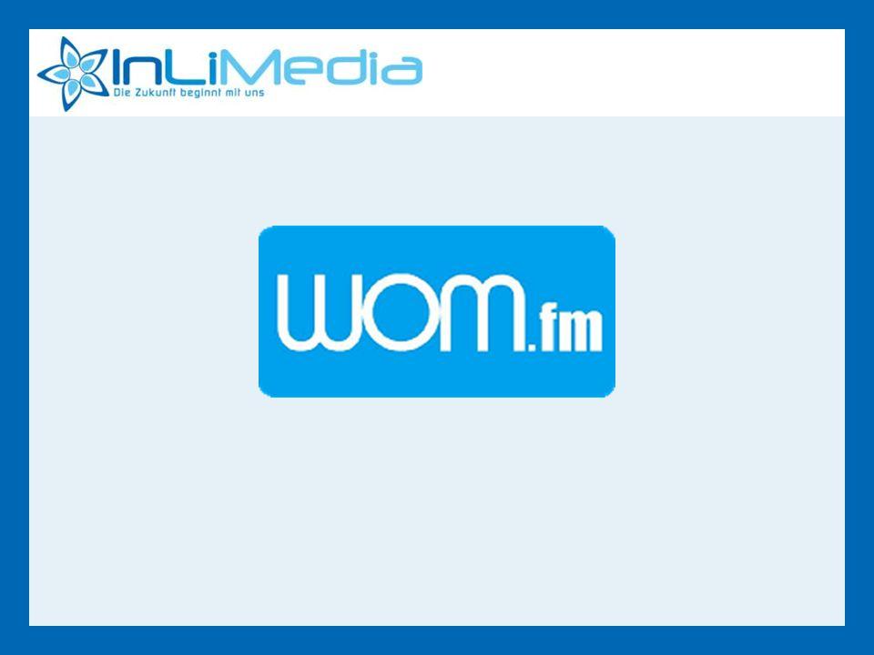 Zuerst gehört bei WOM.fm Rotation:Wöchentlich 10 Wiederholungen wöchentlich Jingles:Introspot powered by… Neue Songs von bekannten Artists werden exklusiv vor Veröffentlichung gespielt