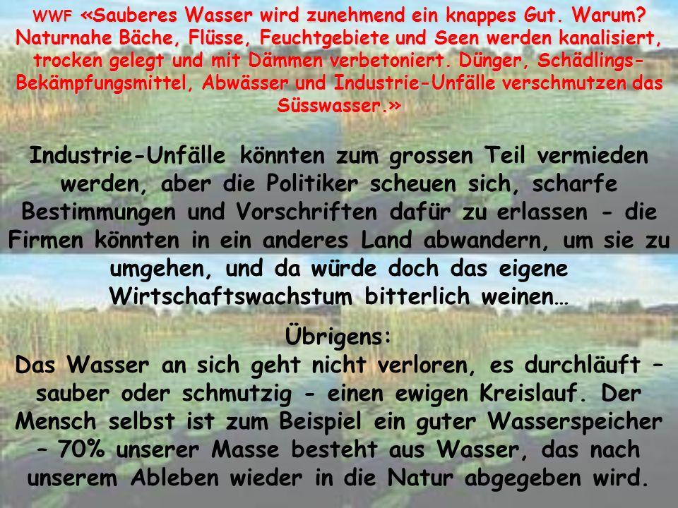 WWF «Die Alpen, ein Hort der Artenvielfalt.