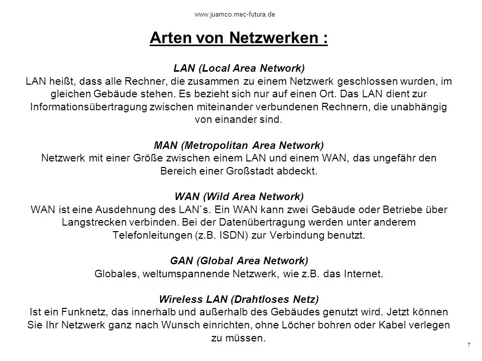 6 www.juamco.mec-futura.de Was macht die Netzwerkkarte.