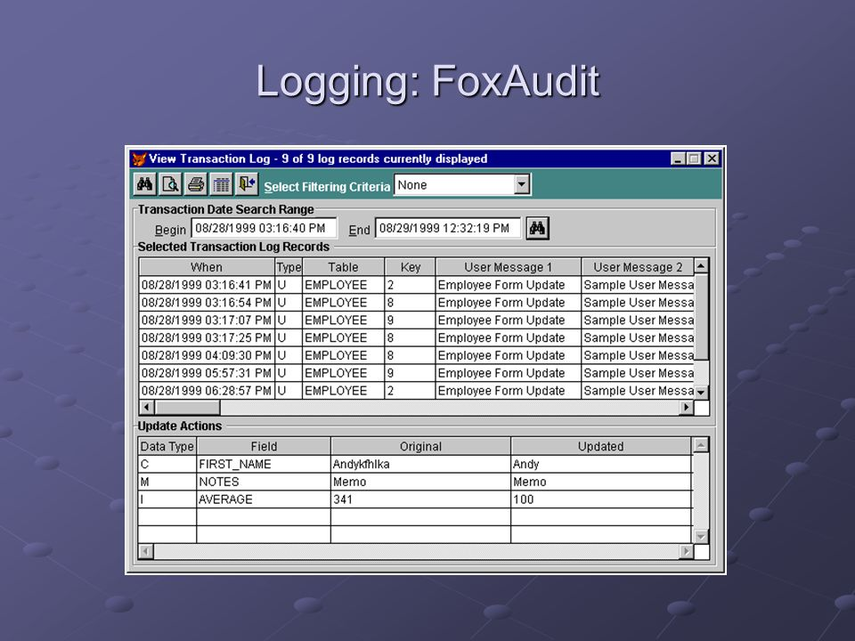Logging: FoxAudit