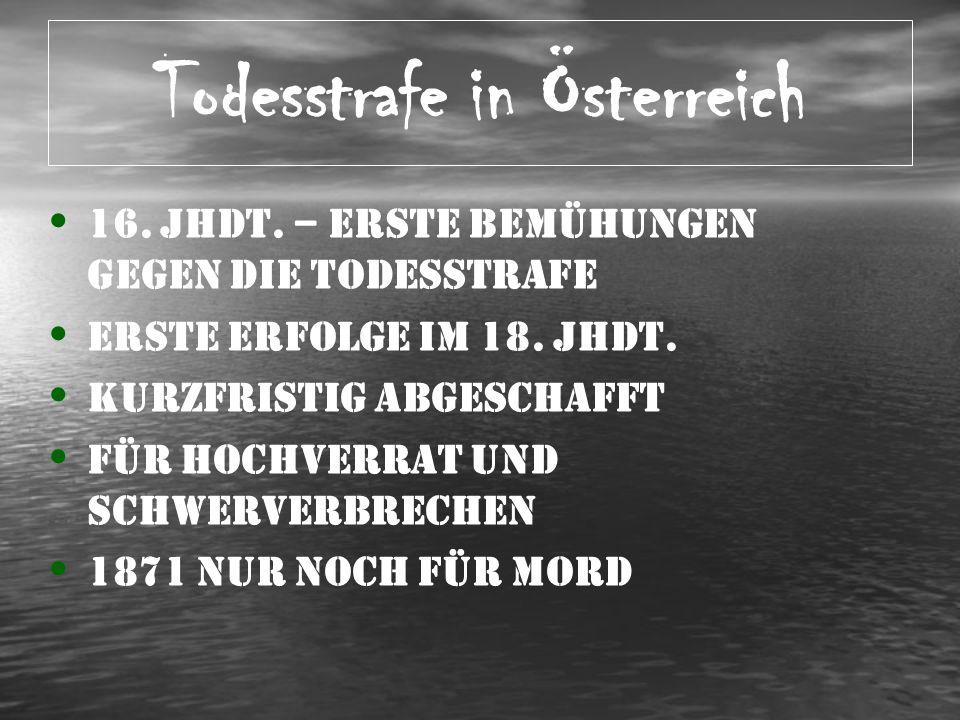 Todesstrafe in Österreich II 1.WK – Notverordnungsrecht 1919 – 1.