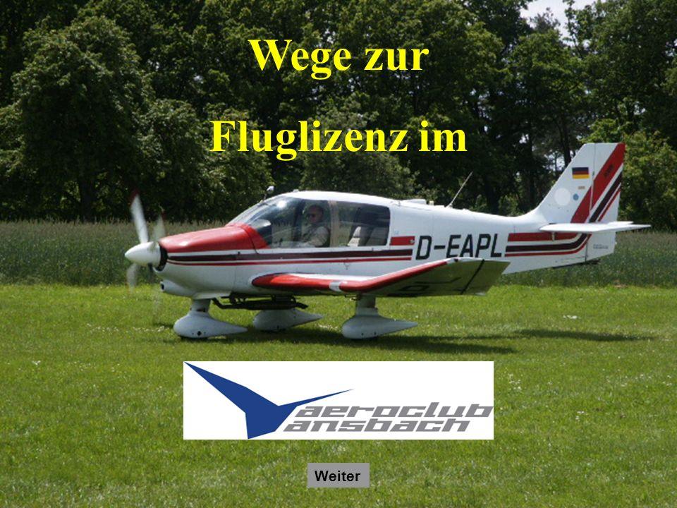 Autor: Jürgen Kneidl Stand: Februar 2009 Wege zur Fluglizenz im Weiter