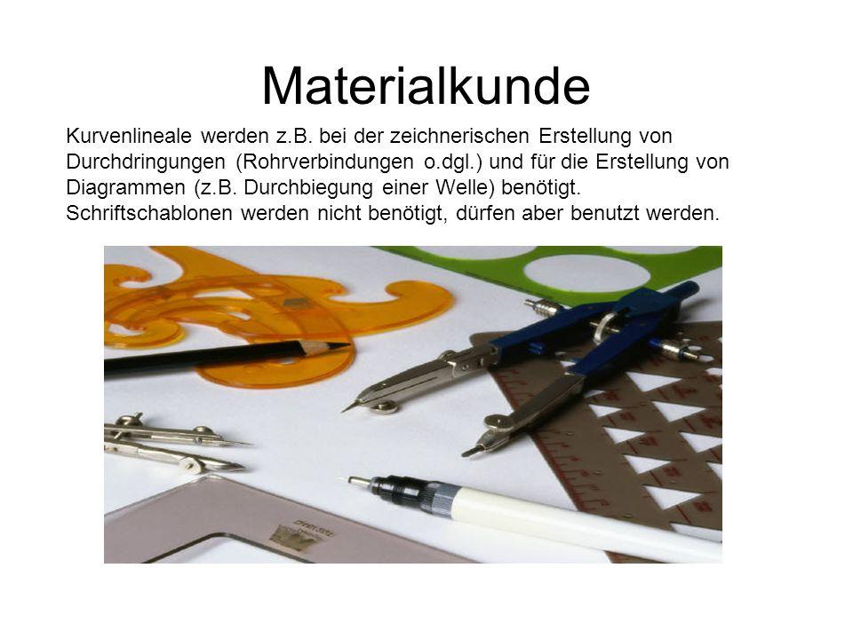 Materialkunde Kurvenlineale werden z.B. bei der zeichnerischen Erstellung von Durchdringungen (Rohrverbindungen o.dgl.) und für die Erstellung von Dia