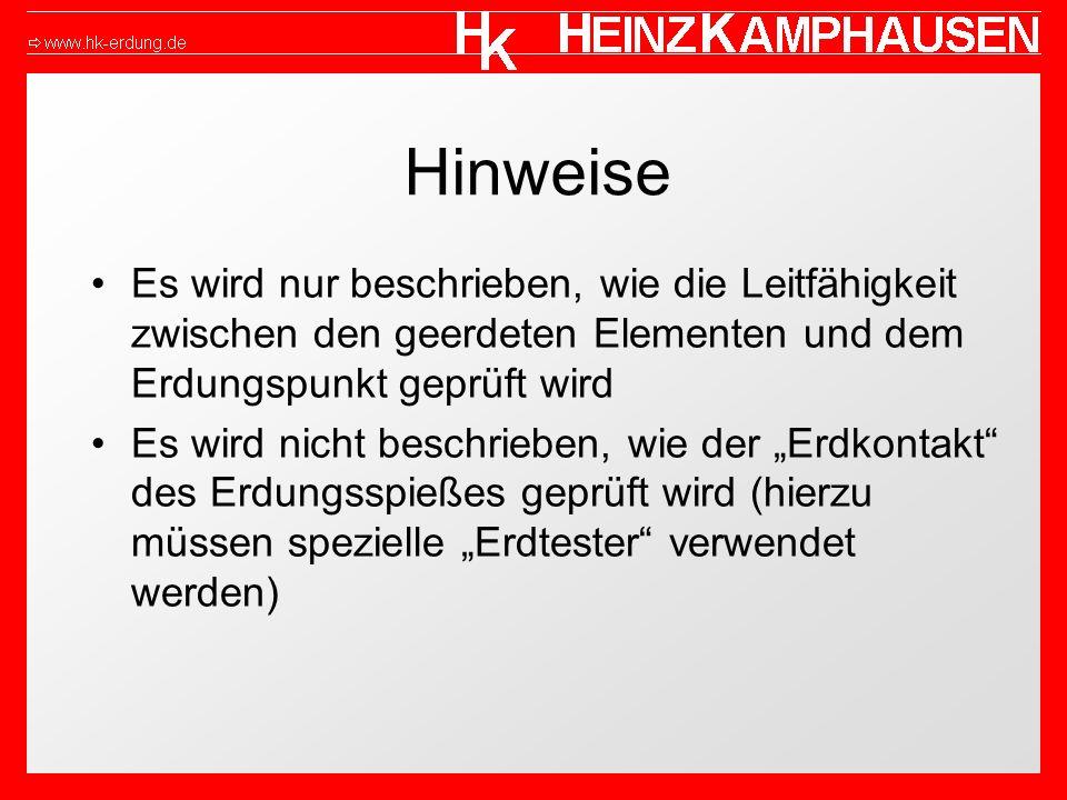 Hinweise Bei Blitzableitern, Bahnschienen o.ä.