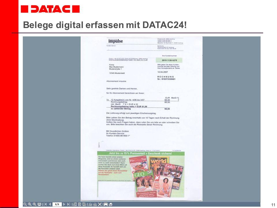 11 Belege digital erfassen mit DATAC24!