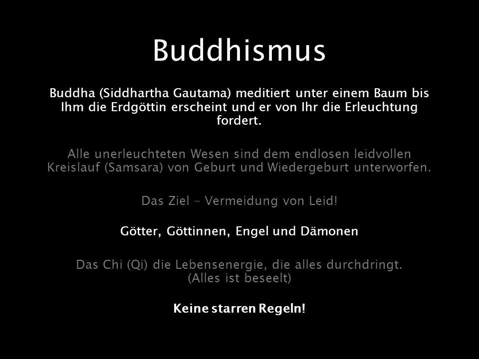 Buddhismus Buddha (Siddhartha Gautama) meditiert unter einem Baum bis Ihm die Erdgöttin erscheint und er von Ihr die Erleuchtung fordert. Alle unerleu
