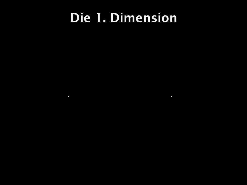 Die 1. Dimension..