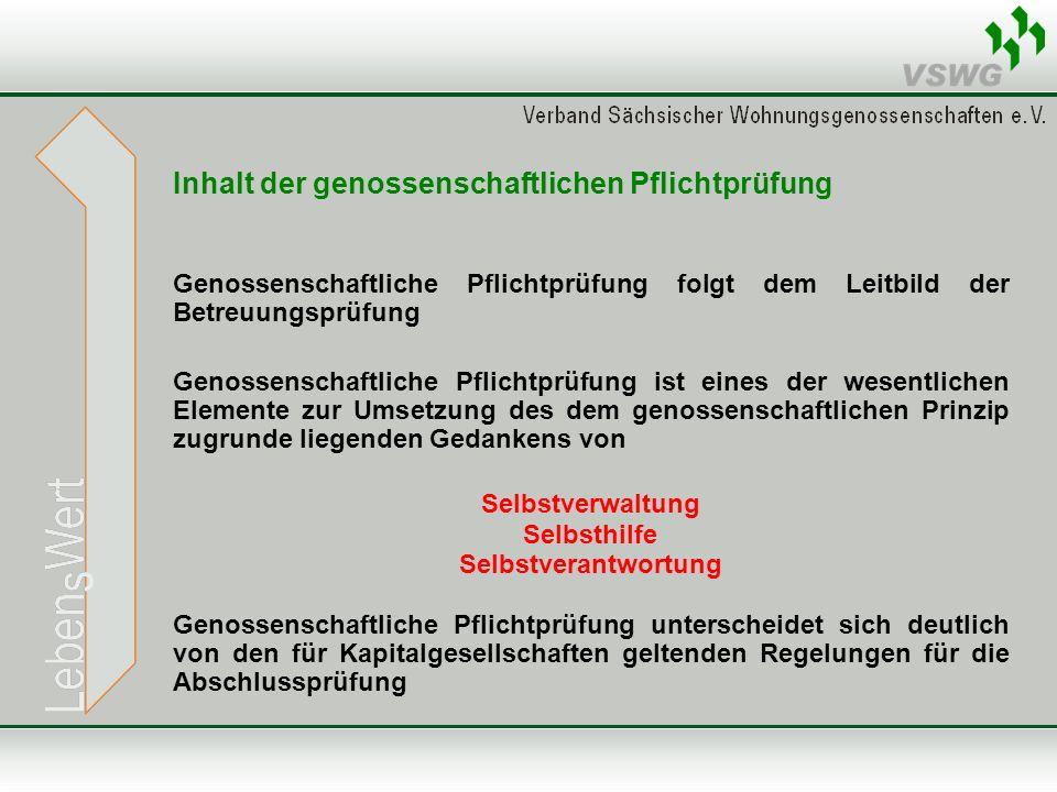 Inhalt der genossenschaftlichen Pflichtprüfung Gem.