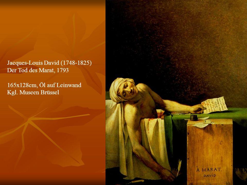 26 Jacques-Louis David (1748-1825) Der Tod des Marat, 1793 165x128cm, Öl auf Leinwand Kgl.