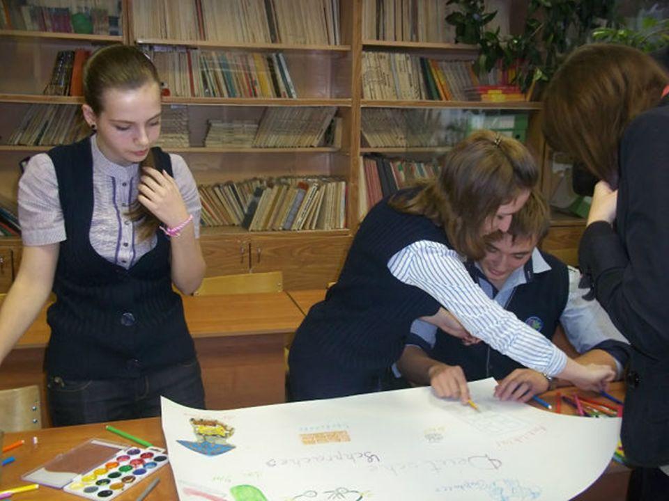 Die Schüler präsentieren ihre Arbeiten