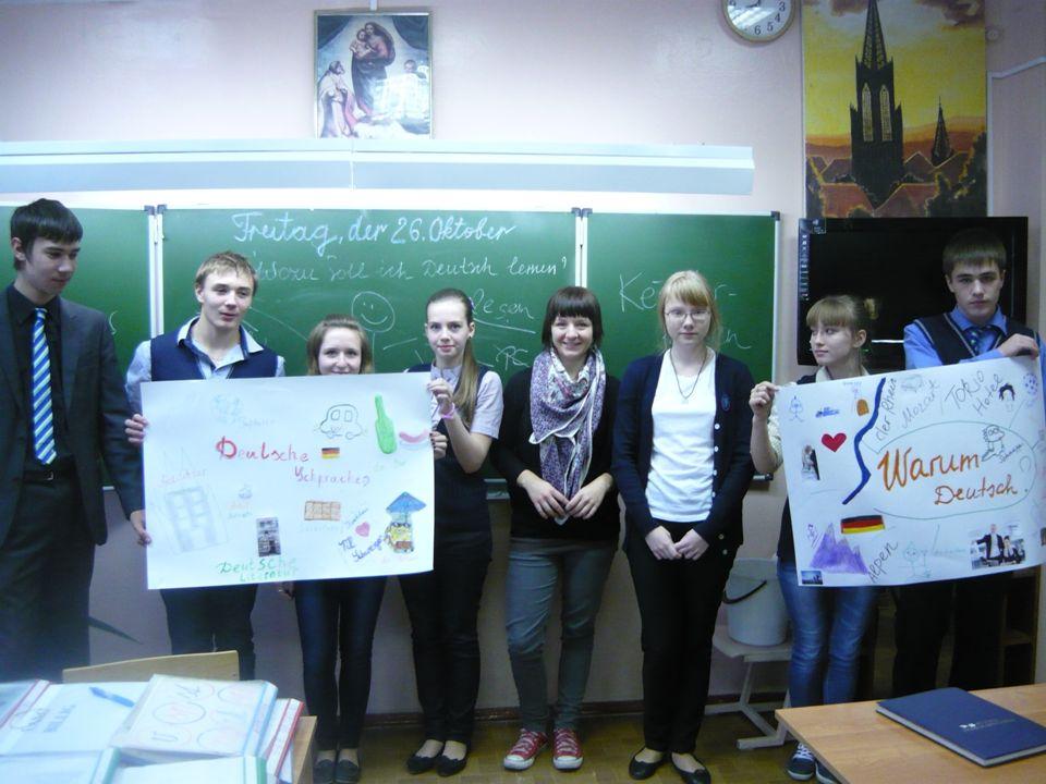 Welche Rolle spielt Deutsch im Lernprozess.Welche Fremdsprache möchtet ihr lernen.