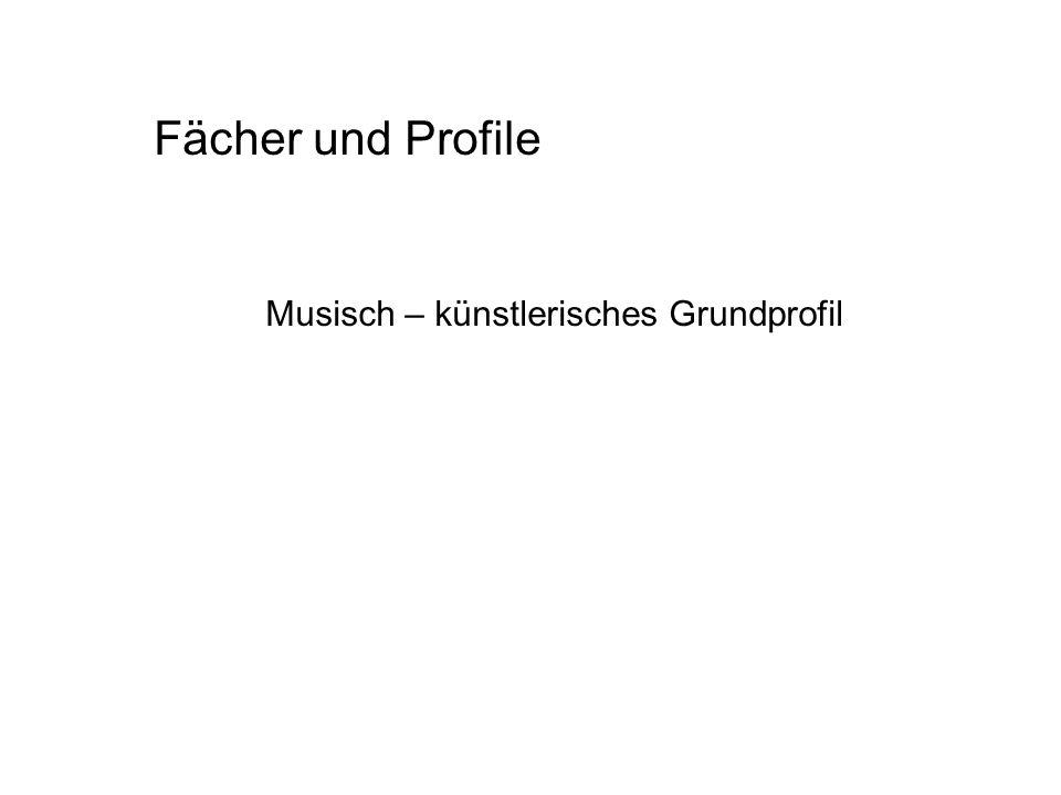 Fächer und Profile Musisch – künstlerisches Grundprofil