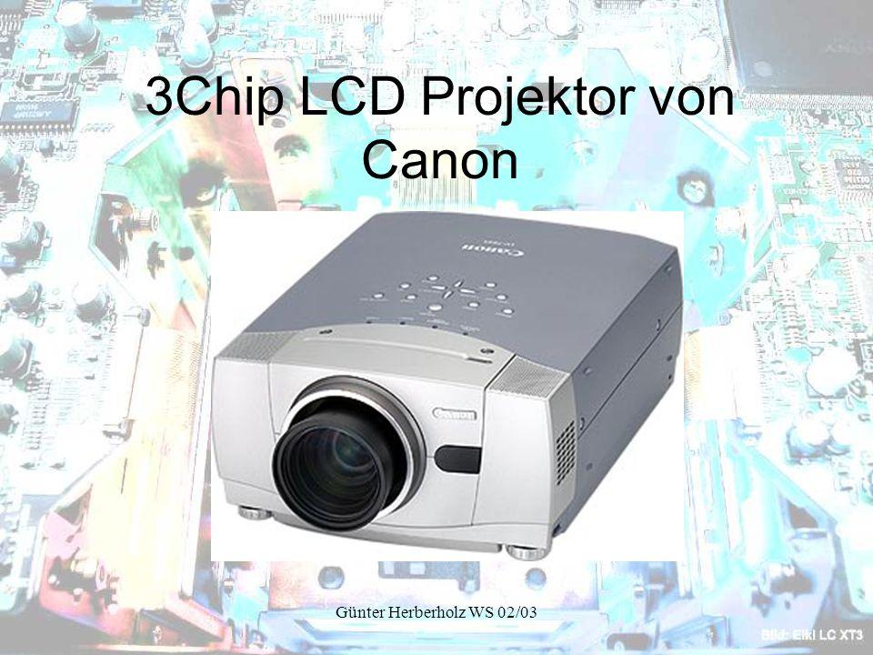 Günter Herberholz WS 02/03 3Chip LCD Projektor von Canon