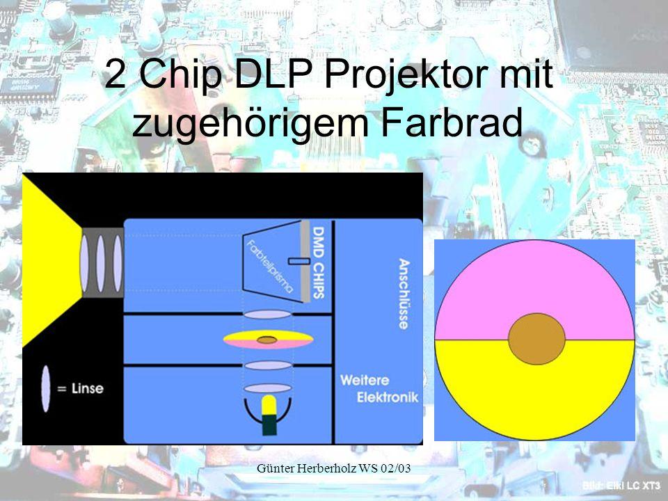 Günter Herberholz WS 02/03 2 Chip DLP Projektor mit zugehörigem Farbrad