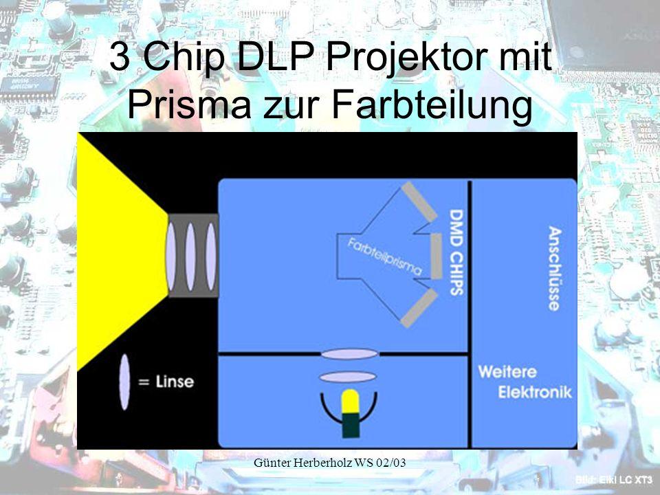 Günter Herberholz WS 02/03 3 Chip DLP Projektor mit Prisma zur Farbteilung