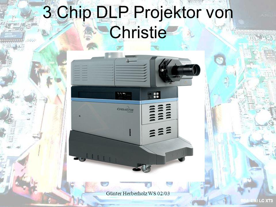 Günter Herberholz WS 02/03 3 Chip DLP Projektor von Christie