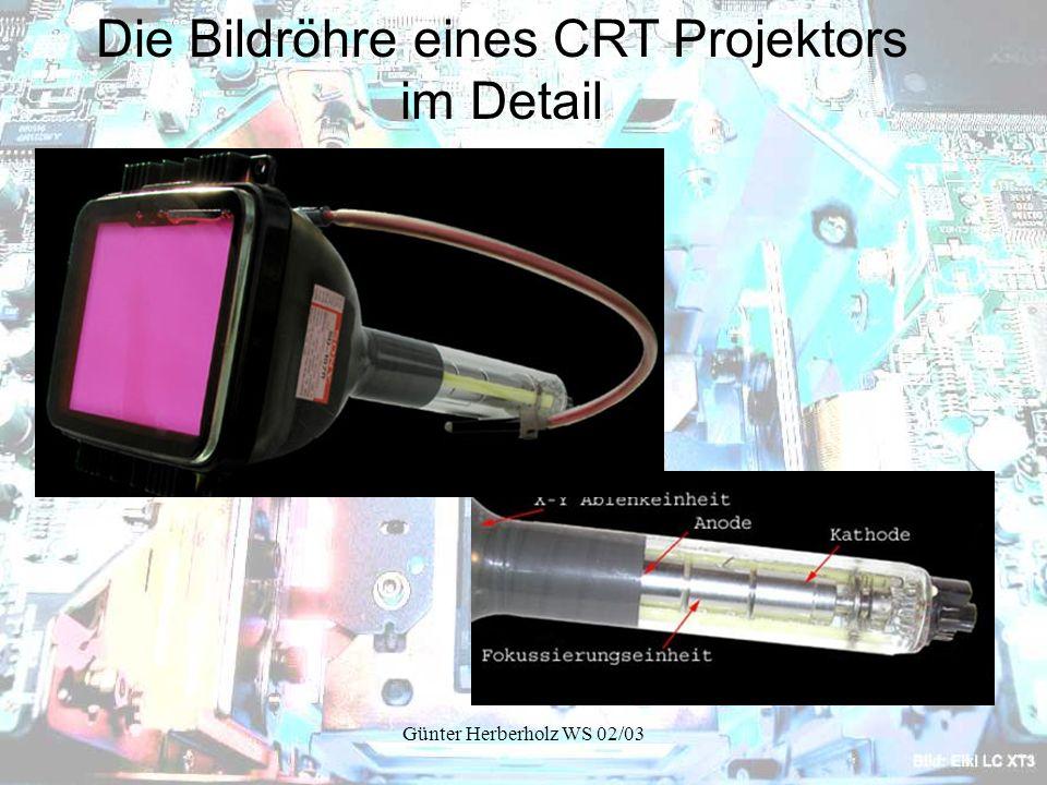 Günter Herberholz WS 02/03 Die Bildröhre eines CRT Projektors im Detail