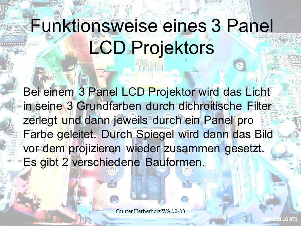 Günter Herberholz WS 02/03 Röhren Projektoren (CRT Projektoren)