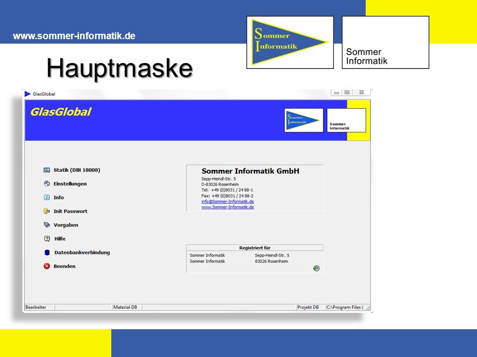 www.sommer-informatik.de Ergebnis Nachweis Horizontal-, Vertikalverglasung