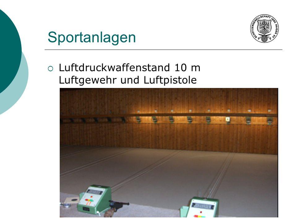 Sportanlagen Luftdruckwaffenstand 10 m Luftgewehr und Luftpistole