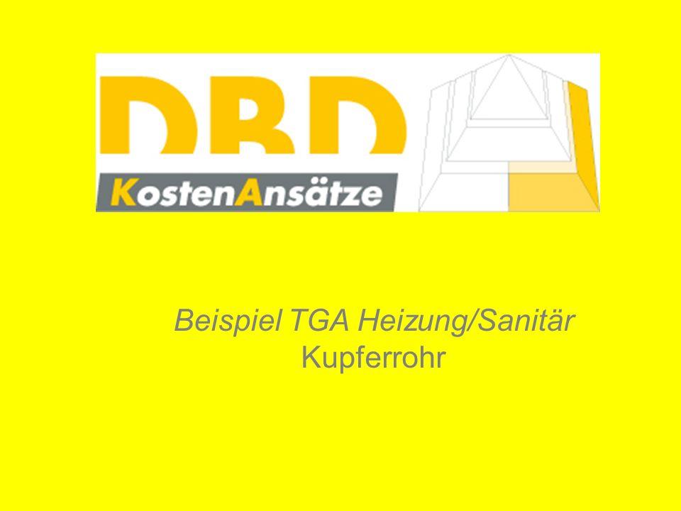 Beispiel TGA Heizung/Sanitär Kupferrohr