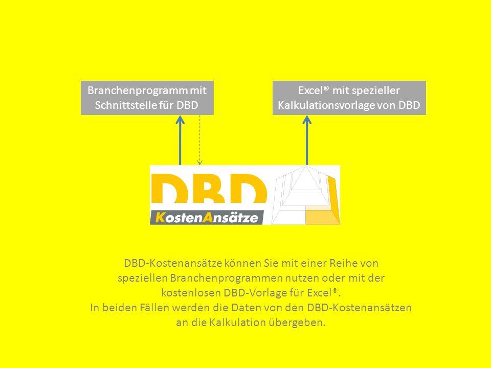 Was Sie jetzt tun können, wenn Sie sich für die DBD-Kostenansätze interessieren: DBD-Demo CD anfordern.