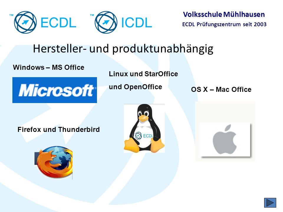 Volksschule Mühlhausen ECDL Prüfungszentrum seit 2003 Was nützt der ECDL den Schülerinnen und Schülern?