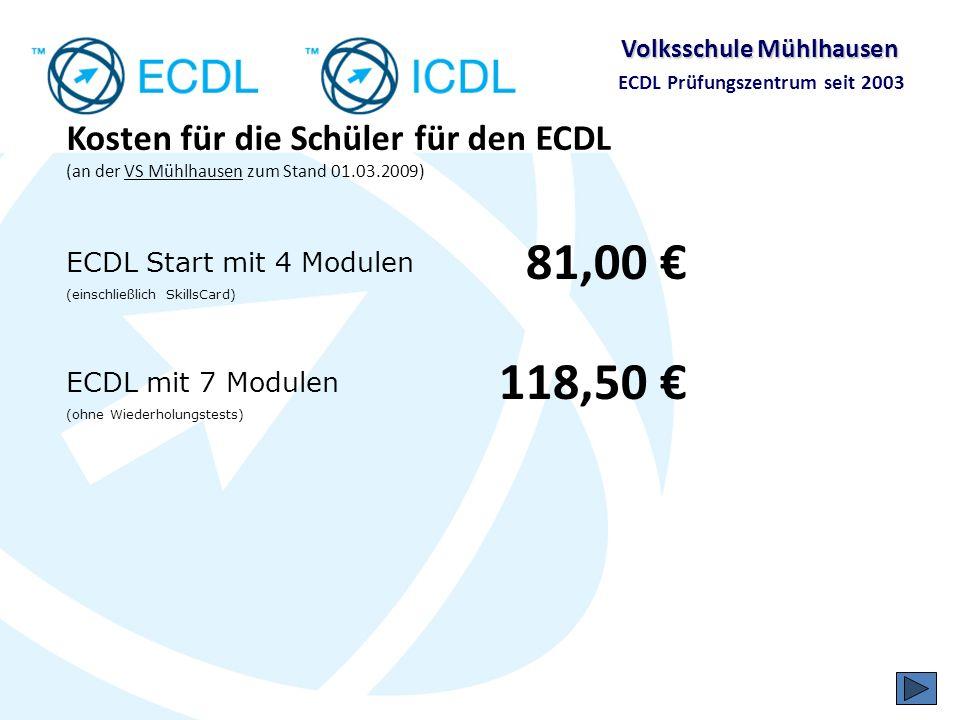 Volksschule Mühlhausen ECDL Prüfungszentrum seit 2003 ECDL und VS Mühlhausen in der Presse