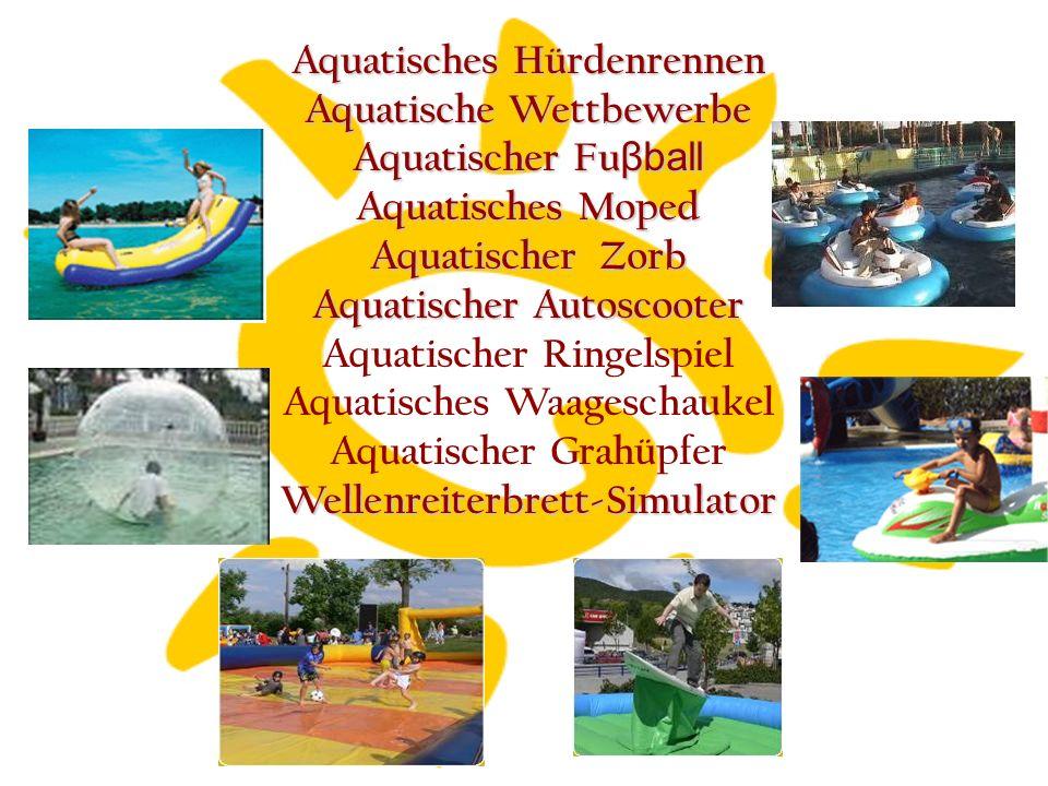 Aquatisches Hürdenrennen Aquatische Wettbewerbe Aquatischer Fu βball Aquatisches Moped Aquatischer Zorb Aquatischer Autoscooter Aquatischer Ringelspiel Aquatisches Waageschaukel Aquatischer GrahüpferWellenreiterbrett-Simulator