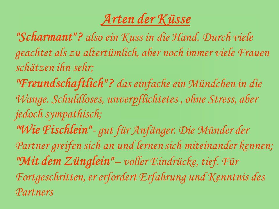Arten der Küsse