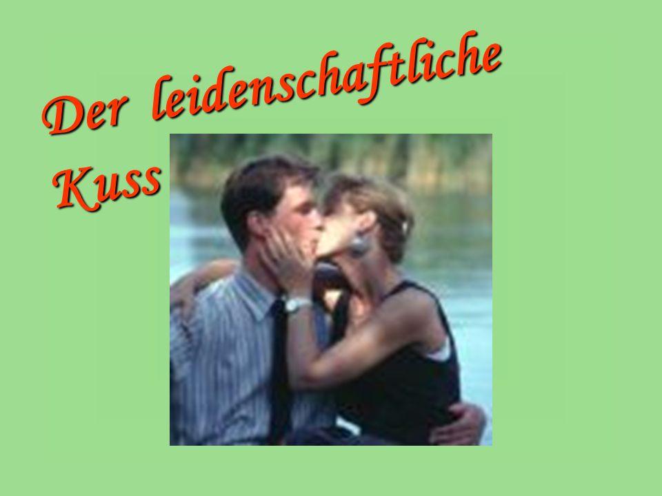 Arten der Küsse Scharmant .also ein Kuss in die Hand.