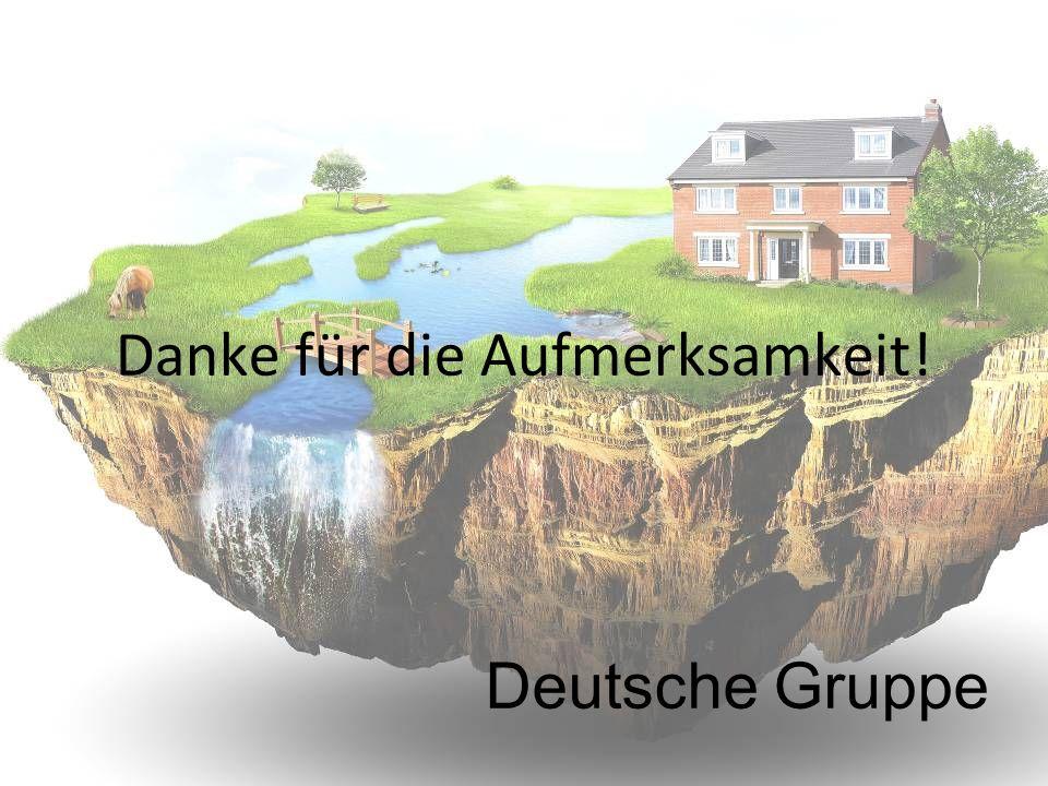 Danke für die Aufmerksamkeit! Deutsche Gruppe