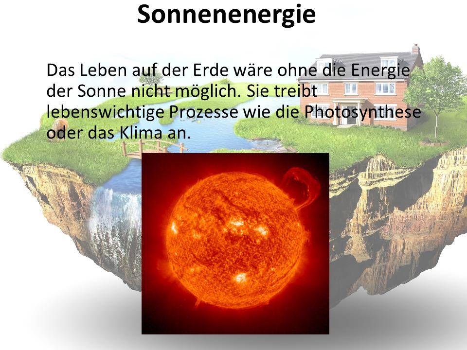 Das Leben auf der Erde wäre ohne die Energie der Sonne nicht möglich. Sie treibt lebenswichtige Prozesse wie die Photosynthese oder das Klima an. Sonn