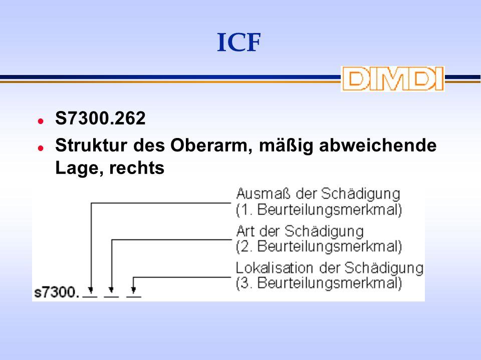 ICF S7300.262 Struktur des Oberarm, mäßig abweichende Lage, rechts