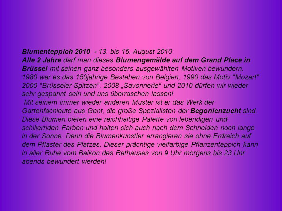 Blumenteppich 2010 - 13.bis 15.