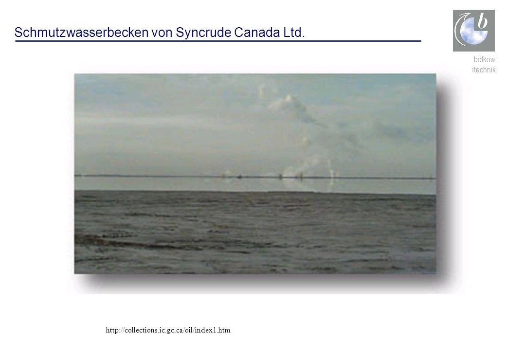 ludwig bölkow systemtechnik Schmutzwasserbecken von Syncrude Canada Ltd. http://collections.ic.gc.ca/oil/index1.htm
