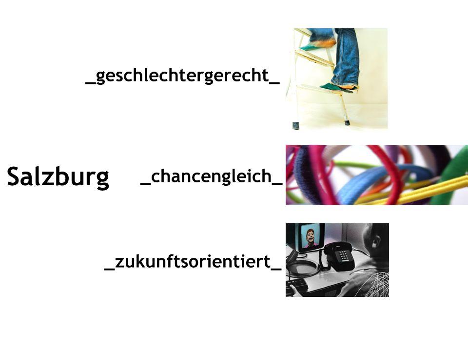 Salzburg _geschlechtergerecht_ _zukunftsorientiert_ _chancengleich_