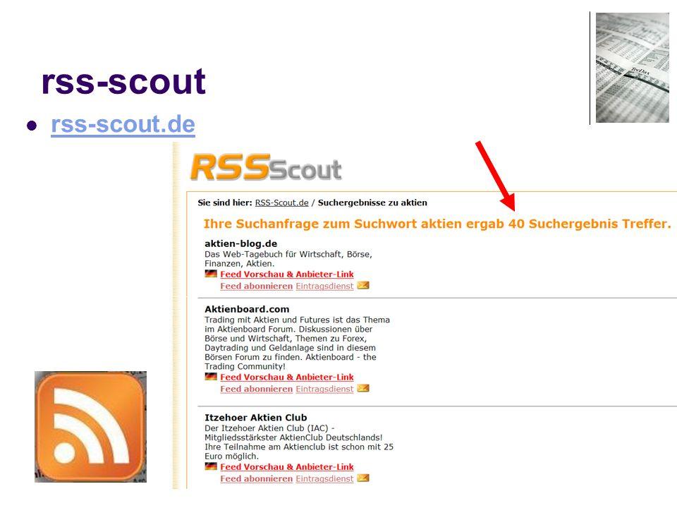 25 rss-scout rss-scout.de