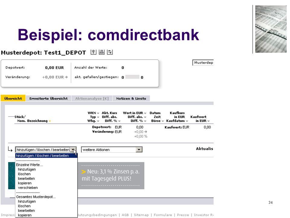 34 Beispiel: comdirectbank
