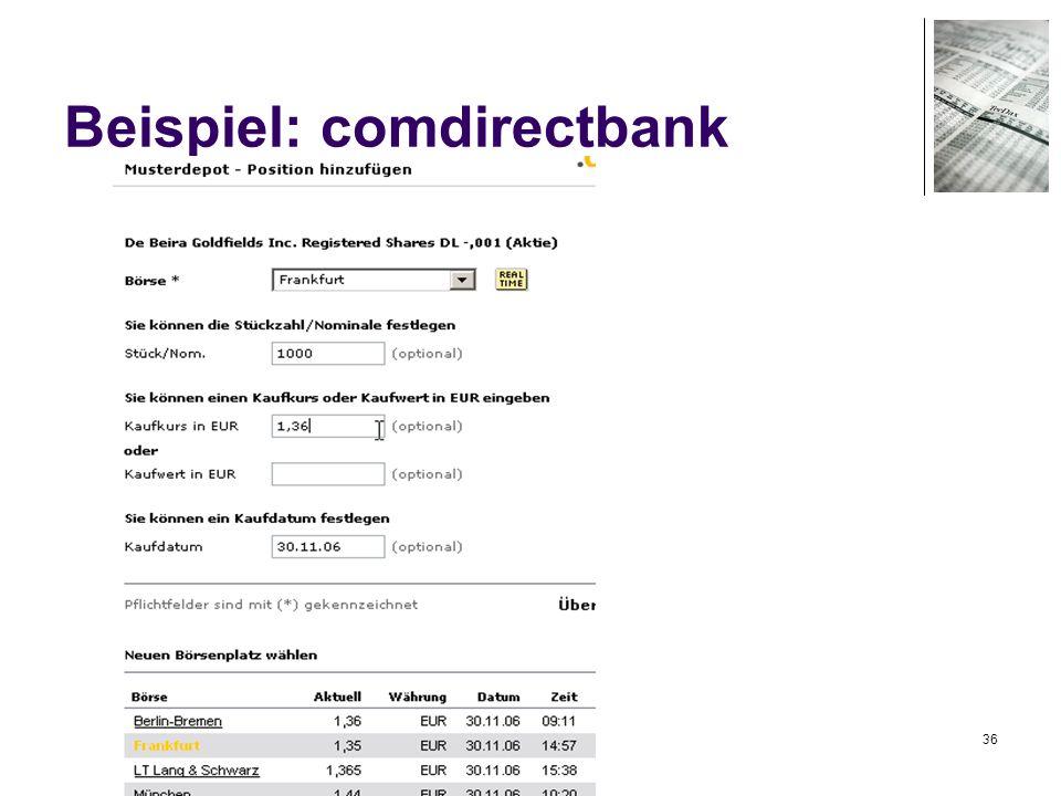 36 Beispiel: comdirectbank