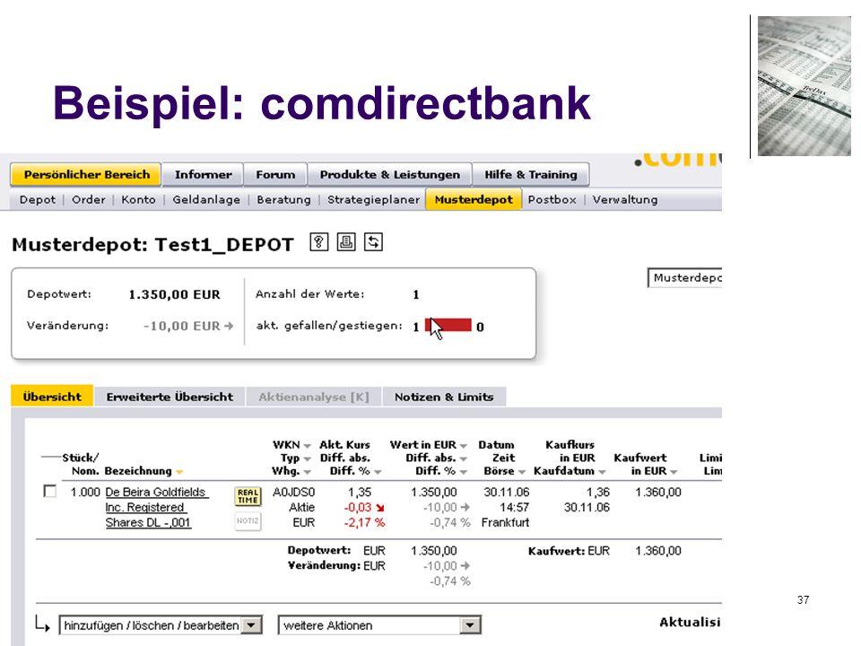 37 Beispiel: comdirectbank